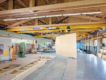 Short Overhead Bridge Crane in production of prefabricated house manufacture