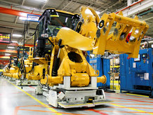 Assembly line for construction machines